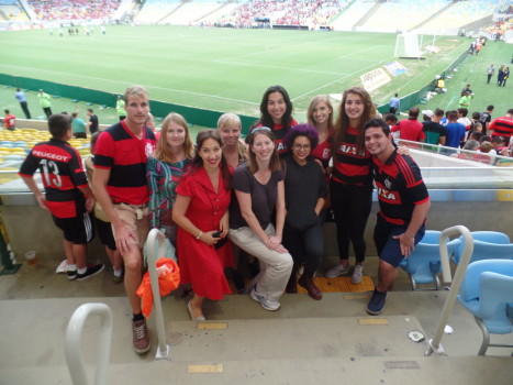 Portuguese students at Maracana Stadium.