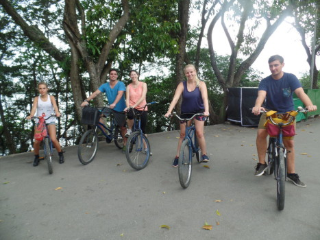 Cycling at Lagoa Rodrigo de Freitas.