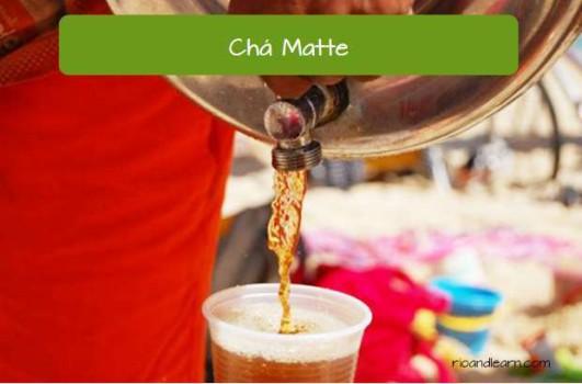 Comidas de playa en Brasil: Chá Matte (té helado)