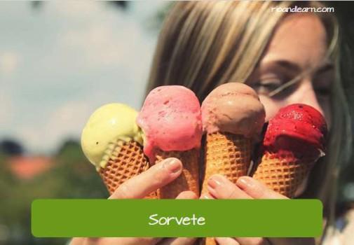 Comidas que se venden en la playa en Brasil: Sorvete (traducción: helado)