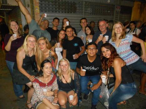 Students at feira de São Cristóvão.
