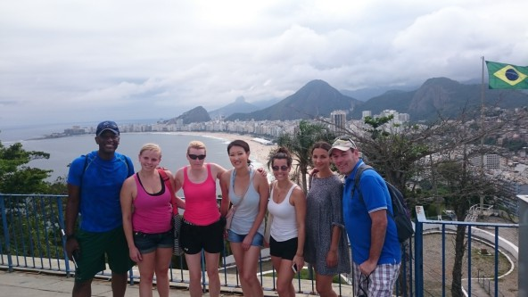 At the top of Forte do Leme with views of Copacabana.