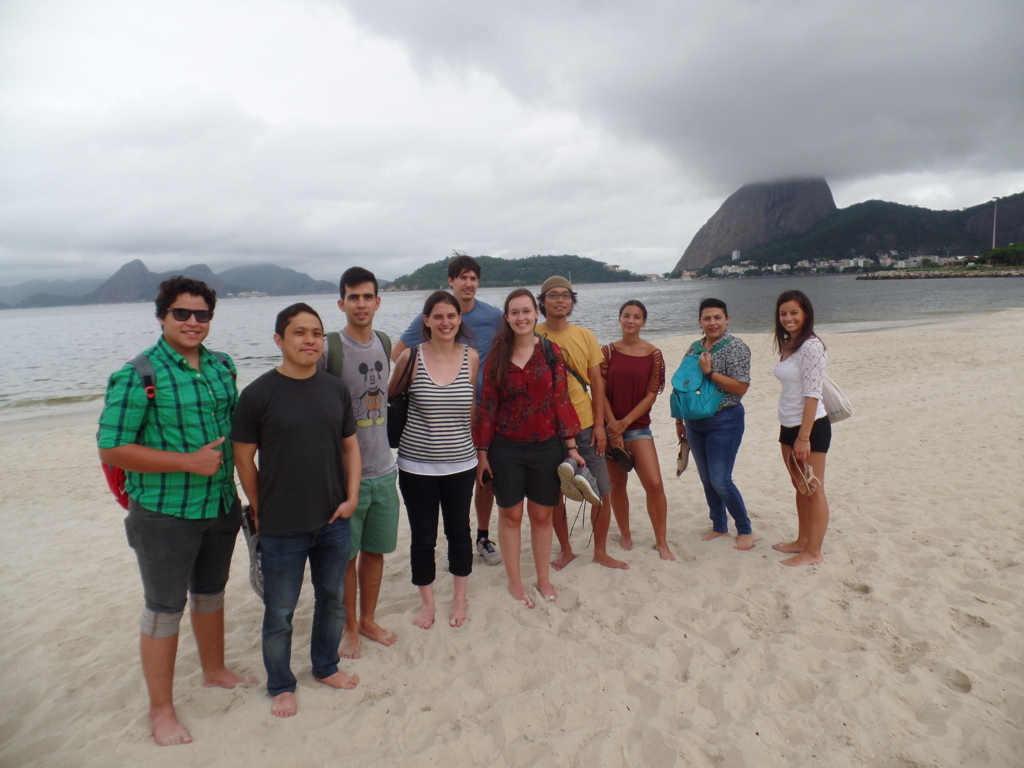 Our Portuguese students enjoying the beach even with the clouds.