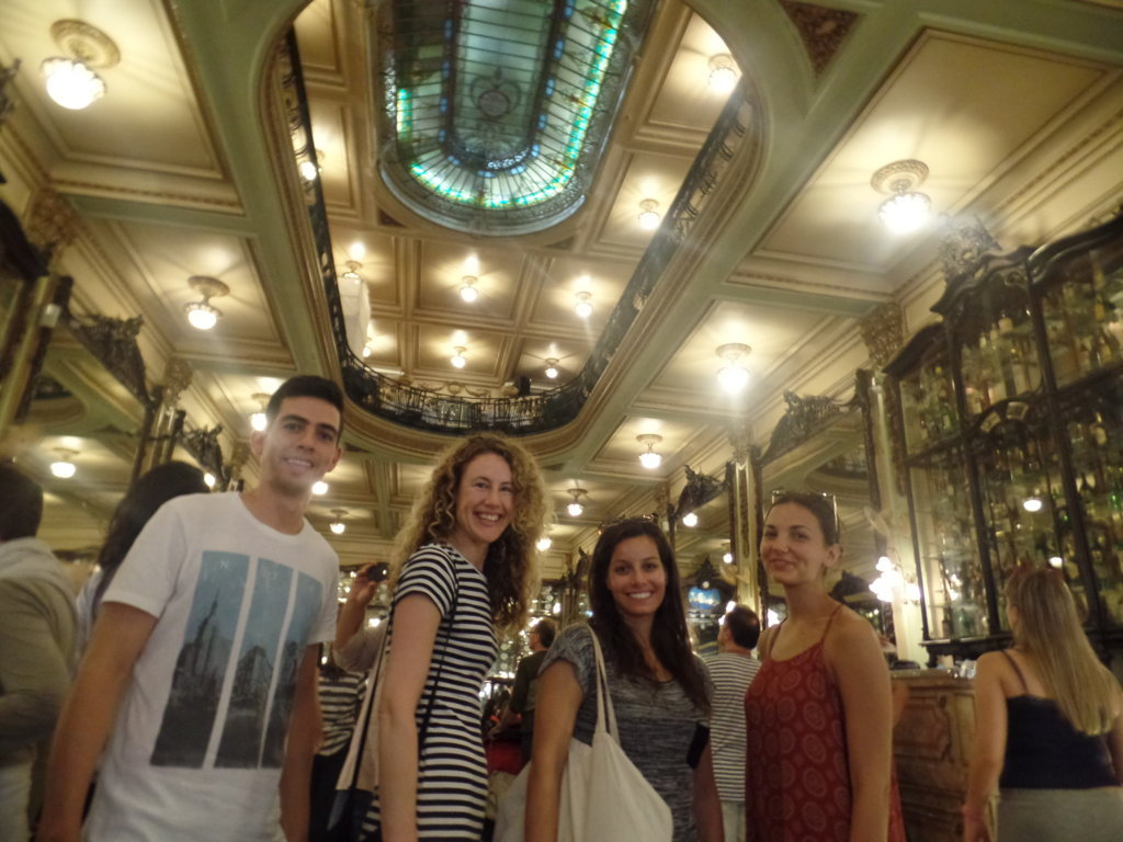 Students in Rio enjoying Confeitaria Colombo