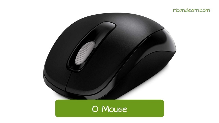 Computer mouse in Portuguese: O mouse. Wireless Mouse