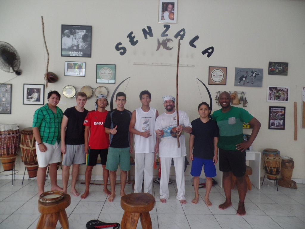 Our Portuguese students very happy with their Capoeira class.