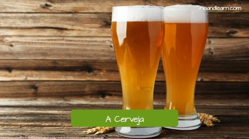 Brazilian Barbecue. A cerveja. Beer