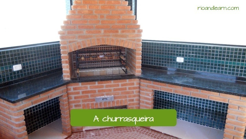 Brazilian Barbecue. A churrasqueira. Barbecue grill