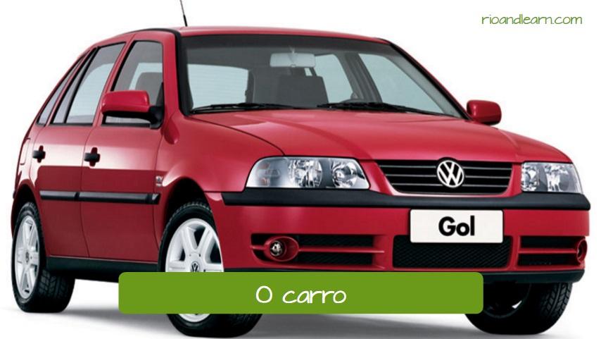 Medios de transporte en portugués: O carro. El carro/coche.