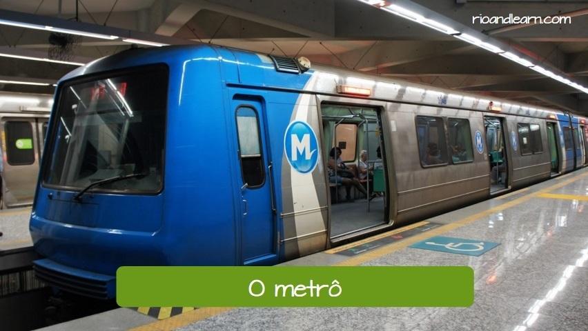 Transportation in Rio de Janeiro. Metro. Subway.