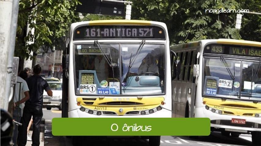 Transportation in Rio de Janeiro. Bus line 161.