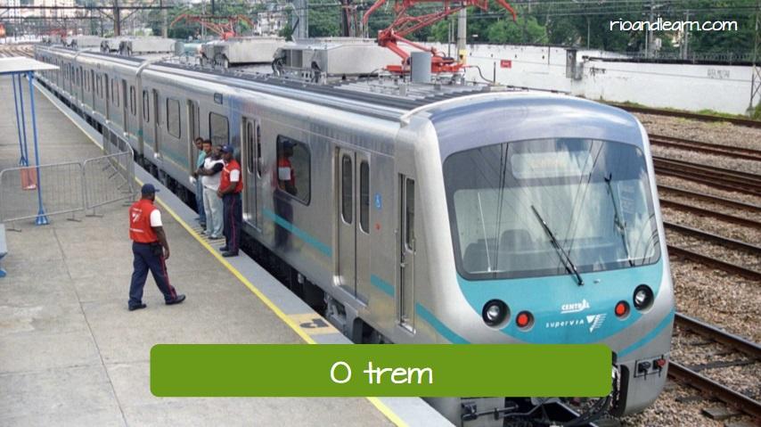 Transportation in Rio de Janeiro. Train. Supervia.