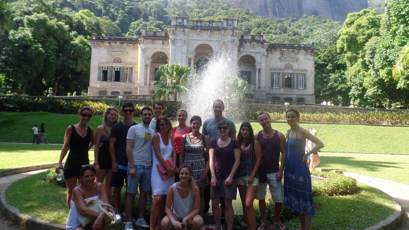 Our galera having fun and visiting Parque Lage.