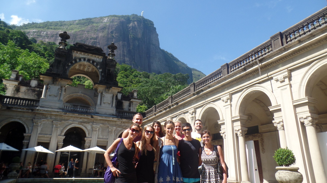 Portuguese students, Parque Lage and Cristo Redentor.