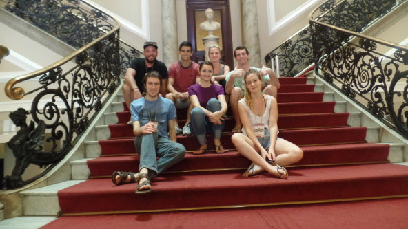 Portuguese students at Biblioteca nacional.