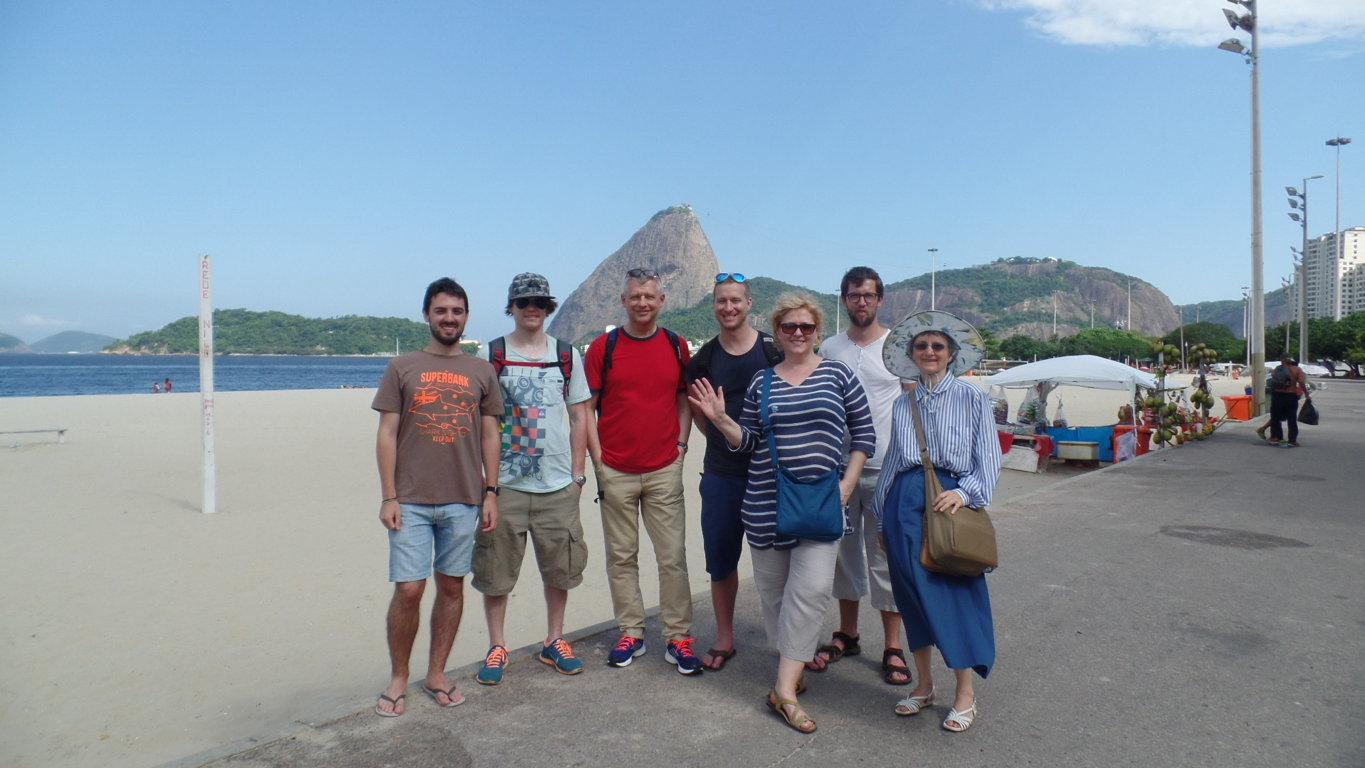 Portuguese students at Praia do Flamengo