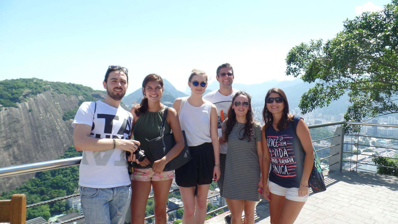 Portuguese students at Sugar Loaf.