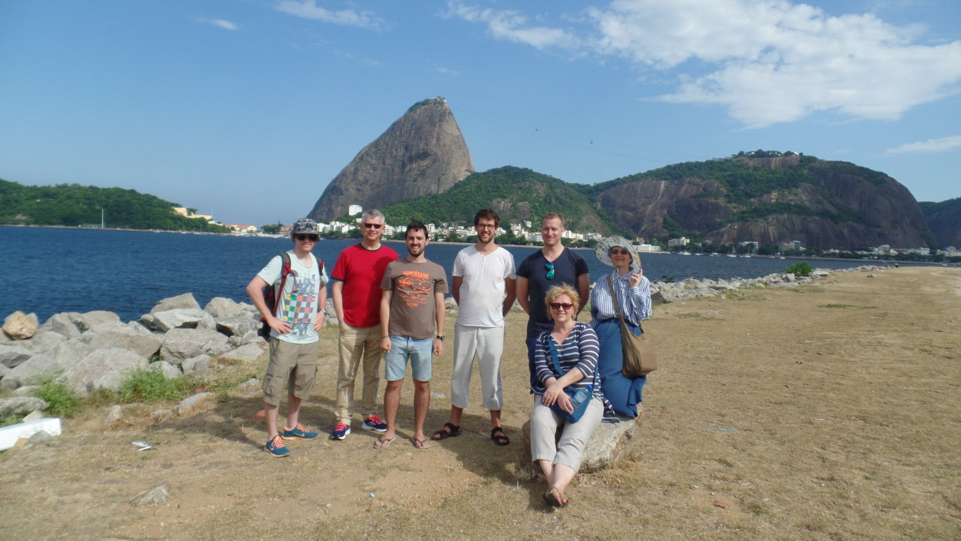 Portuguese students relaxing in Botafogo