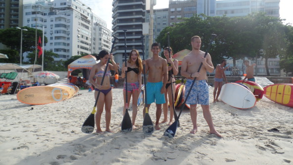 Stand Up Paddle Surf in Copacabana.