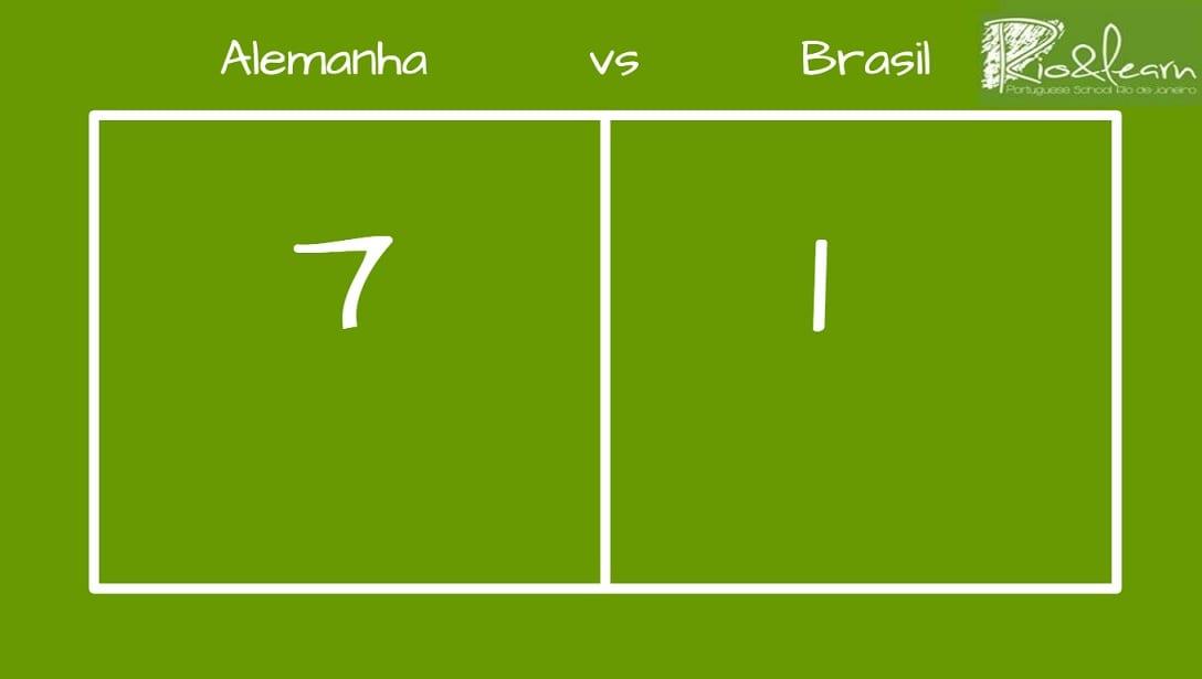 Alemanha vs Brasil: 7 - 1