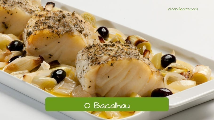 O Bacalhau. Cod fish: One of the most typical fishes at Easter