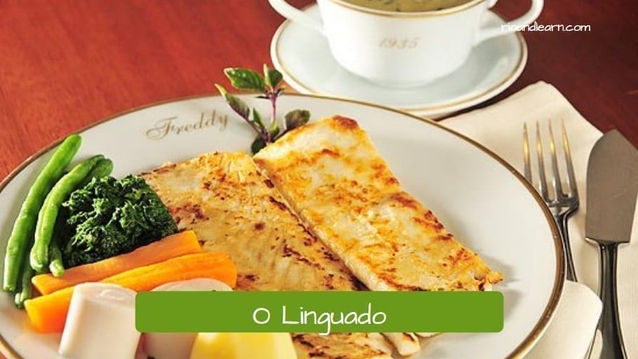 Vocabulário de peces en portugués. El lenguado: O linguado.