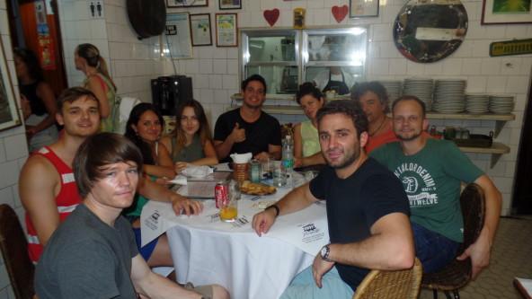 Having beers at Bar do Mineiro.