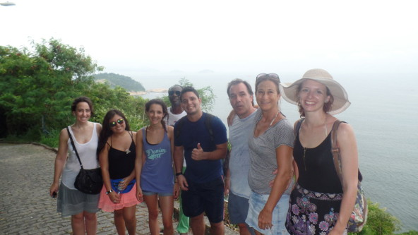 Students of Rio & Learn Portuguese School at Forte do Leme.