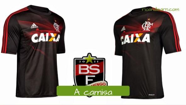 Men's Clothing in Portuguese. A Camisa: t-shirt. Camisa que o Flamengo usou como terceiro uniforme em 2013.