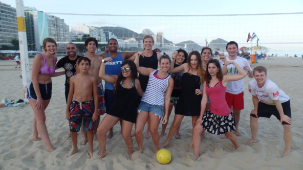 Fun and Portuguese on the beach.