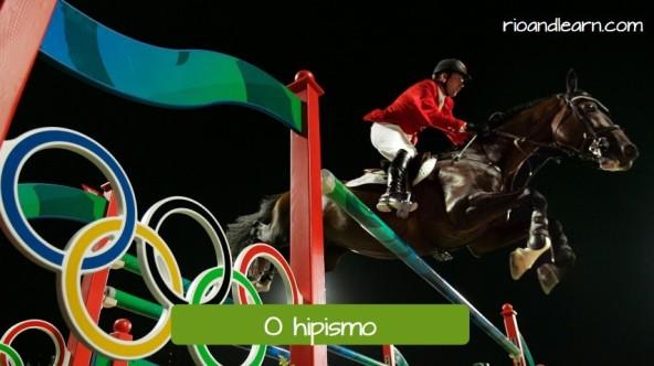 Olympic sport in Rio: Equestrianism. Horseback riding: o hipismo.