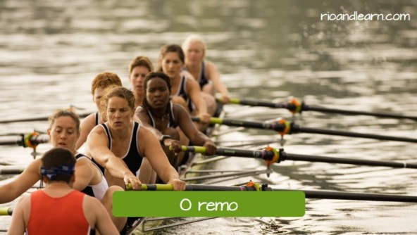Popular sports in Rio de Janeiro. Rowing: o remo.