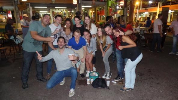 Karaoke and fun at São Cristóvão.