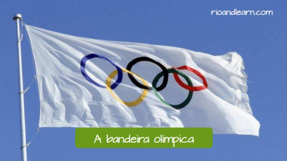 Olympic Games in Brazil: A bandeira olímpica.
