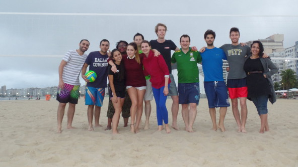 Portuguese, fun and beach volley.