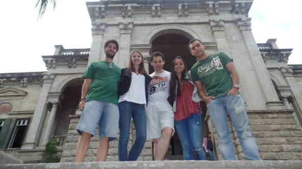 Portuguese students visiting Parque Lage.