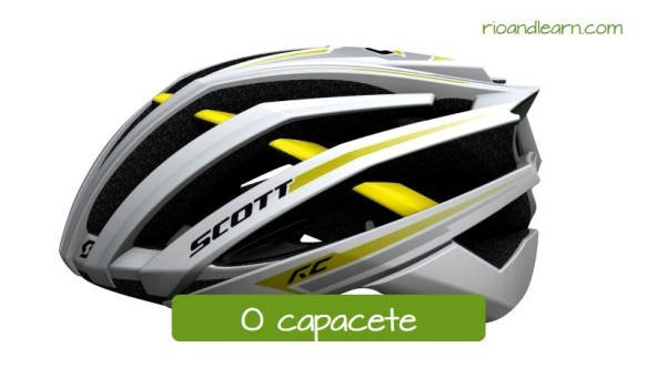 Equipments for Cycling in Portuguese: O capacete. Capacete aerodinâmico para ciclismo adulto scott prata, preto e amarelo.