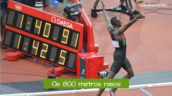 Styles and modalities of athletism. Os 800 metros rasos: The 800 meters.