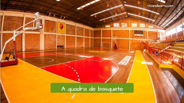 Vocabulario de Baloncesto en Portugués. La pista de baloncesto: A quadra de basquete.