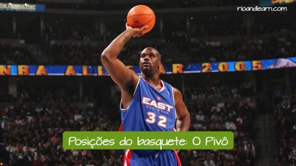 Posiciones de baloncesto en portugués. El pivot: o pivô.