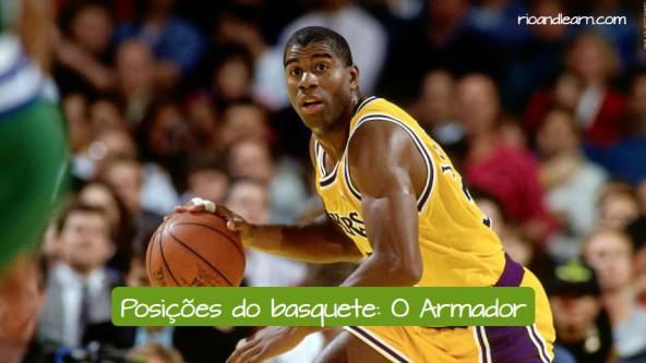 Posiciones de baloncesto en portugués. El base: o armador.