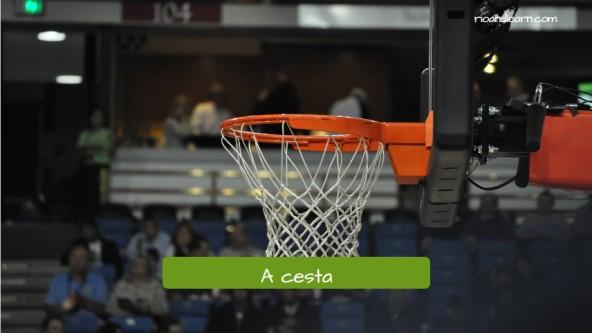 Vocabulario de baloncesto en portugués. La cesta: A cesta.