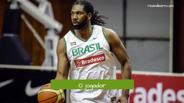 Vocabulario de basket en portugués. El jugador: O jogador.