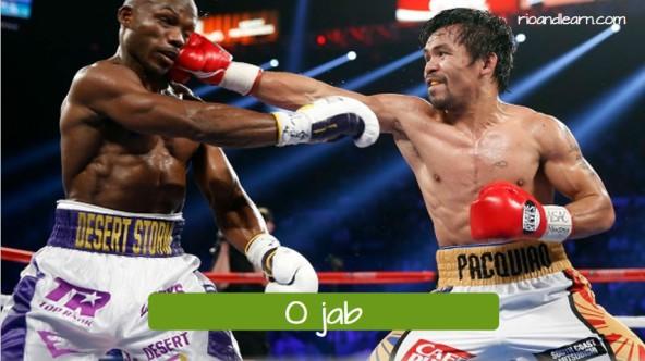 Movimentos do boxe em Português. O jab.