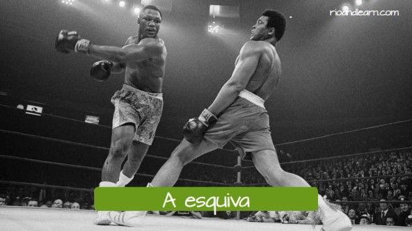 Vocabulary of moviments in boxing. A esquiva. The slip.