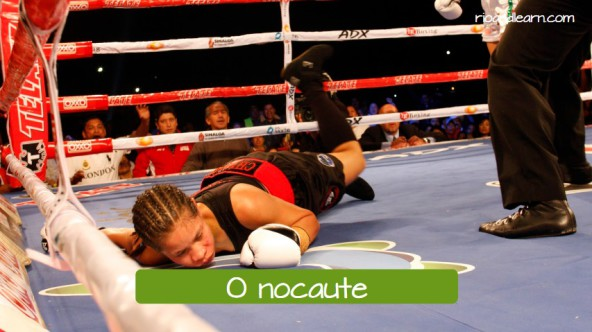 O nocaute: the knockout.