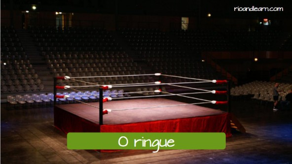 O ringue: The ring.