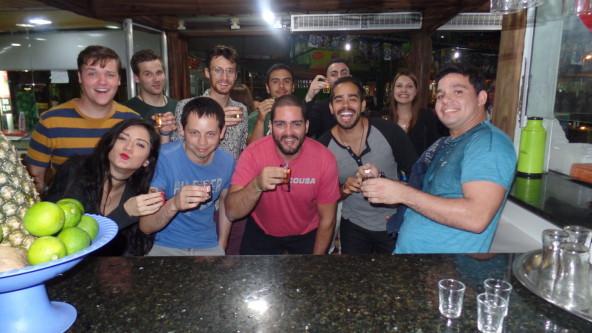 Tequila shot at Feira de São Cristóvão.