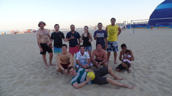 Soccer at Copacabana.