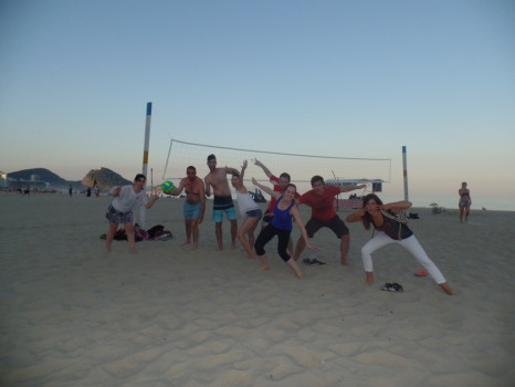 Fun, volleyball and caipirinhas.